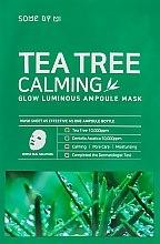 Düfte, Parfümerie und Kosmetik Beruhigende Tuchmaske für das Gesicht mit Wassernabel- und Teebaumextrakt - Some By Mi Tea Tree Calming Glow Luminous Ampoule Mask
