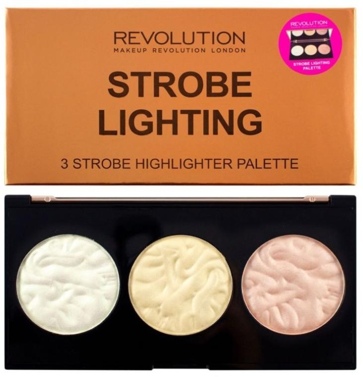 Highlighter-Palette - Makeup Revolution 3 Strobe Highlighter Palette — Bild N5