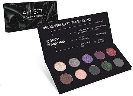 Lidschattenpalette - Affect Cosmetics Smoky And Shiny Eyeshadow Palette — Bild N1