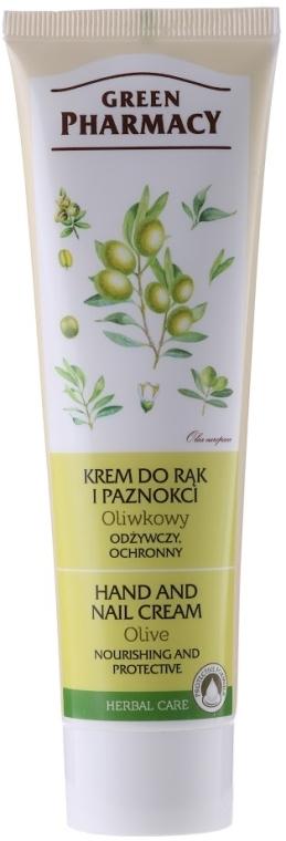 Nährende und schützende Hand- und Nagelcreme mit Olive - Green Pharmacy — Bild N1