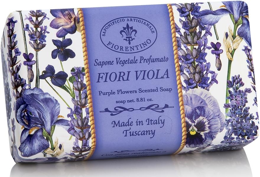 Naturseife Purple Flowers - Saponificio Artigianale Fiorentino Purple Flowers Scented Soap Armonia Collection — Bild N1