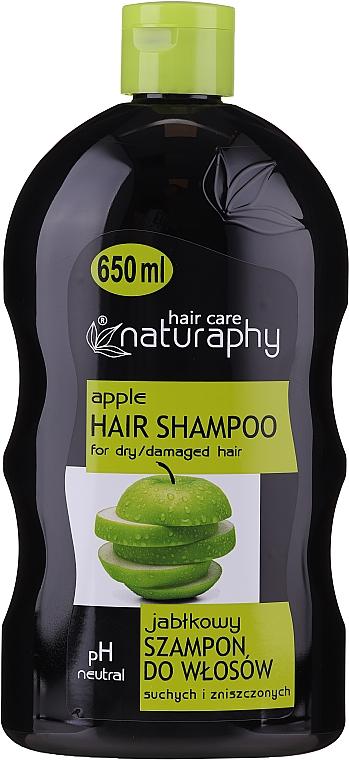Shampoo mit Apfelduft für trockenes und stapaziertes Haar - Bluxcosmetics Naturaphy Apple Hair Shampoo — Bild N1