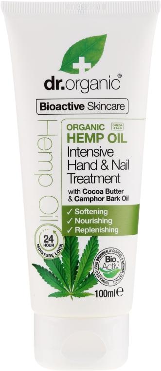 Hand- und Nagelcreme mit Hanföl - Dr. Organic Hemp Oil Intensive Hand & Nail Treatment — Bild N1