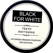 Düfte, Parfümerie und Kosmetik Aufhellendes Zahnpulver mit Aktivkohle Black For White - Biomika Black For White Teeth Whitening