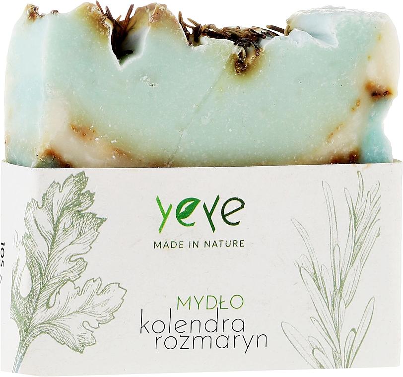 """100% Naturseife """"Koriander und Rosmarin"""" - Yeye Natural Coriander and Rosemary Soap"""