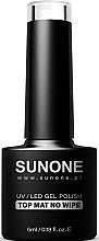 Düfte, Parfümerie und Kosmetik Matter Gel-Nagelüberlack ohne klebrige Schicht - Sunone UV/LED Gel Polish Top Mat No Wipe