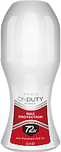 Düfte, Parfümerie und Kosmetik Deo Roll-on Antitranspirant - Avon On Duty Max Protection Rol On 72H