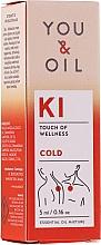 Düfte, Parfümerie und Kosmetik Bioaktive ätherische Ölmischung zur Bekämpfung von Muskelverspannungen, Erkältungs- und Grippesymptome - You & Oil KI-Cold Touch Of Welness Essential Oil