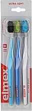 Düfte, Parfümerie und Kosmetik Zahnbürste ultra weich Swiss Made blau, hellblau, weiß 3 St. - Elmex Swiss Made