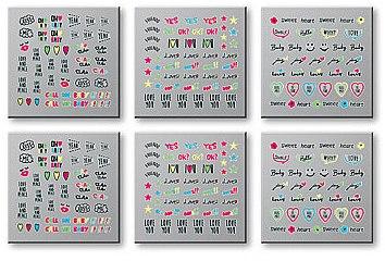 Dekorative Nagelsticker 6 St. 42300 - Top Choice Words Neon — Bild N1