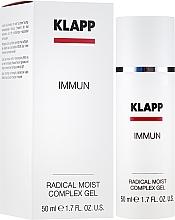 Düfte, Parfümerie und Kosmetik Gesichtsgel und Vorbeugung von lichtbedingten Hautschäden - Klapp Immun Radical Moist Complex