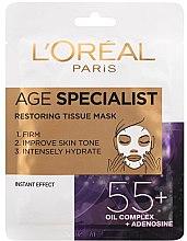 Düfte, Parfümerie und Kosmetik Intensiv feuchtigkeitsspendende und straffende Gesichtsmaske 55+ - L'Oreal Paris Age Specialist 55+