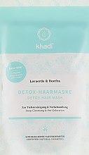 Düfte, Parfümerie und Kosmetik Detox-Haarmaske zur Tiefenreinigung und Vorbehandlung - Khadi Detox Hair Mask