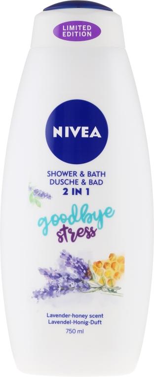 Pflegedusche und seidiges Cremebad 2in1mit Lavendel-Honig-Duft - Nivea Goodbye Stress Body Wash Limited Edition — Bild N1