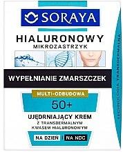 Düfte, Parfümerie und Kosmetik Regenerierende Tages- und Nachtcreme 50+ mit transdermaler Hyaluronsäure - Soraya Hialuronowy Mikrozastrzyk Firming Cream 50+