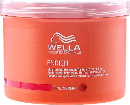 Pflegende und feuchtigkeitsspendende Maske für dünnes und normales Haar - Wella Professionals Enrich Moisturizing Treatment — Bild N3