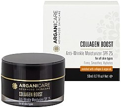 Düfte, Parfümerie und Kosmetik Feuchtigkeitsspendende Anti-Falten Gesichtscreme mit Kollagen SPF 25 - Arganicare Collagen Boost Anti Wrinkle Moisturizer SPF25