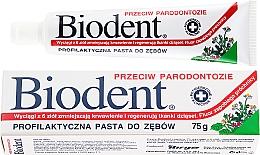Düfte, Parfümerie und Kosmetik Schützende Zahnpasta gegen Parodontitis - Biodent