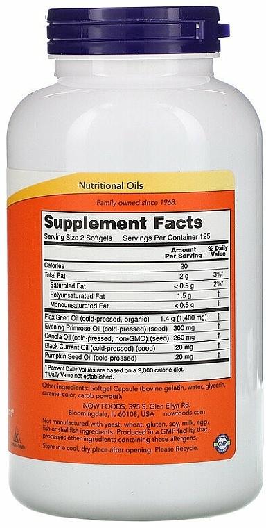 Nahrungsergänzungsmittel Omega 3-6-9 1000 mg für schöne Haut und Immunität - Now Foods Omega 3-6-9 — Bild N2