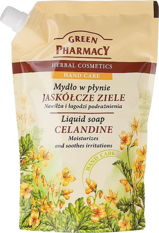 Flüssige Handseife mit Schöllkraut - Green Pharmacy Celandine Liquid Soap (Doypack) — Bild N1