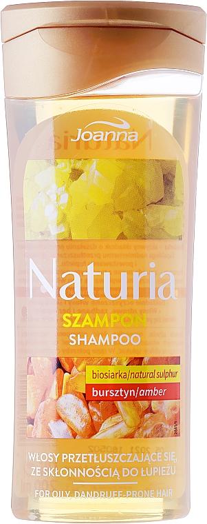 Anti-Schuppen Shampoo für fettiges Haar mit Bio-Schwefel und Bernstein - Joanna Naturia Shampoo Biosandar And Amber