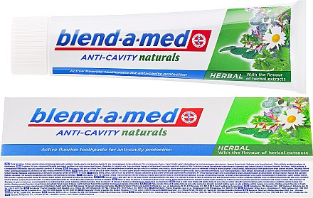 Zahnpasta Anti-Cavity Naturals Herbal - Blend-a-med Anti-Cavity Herbal Natural — Bild N1