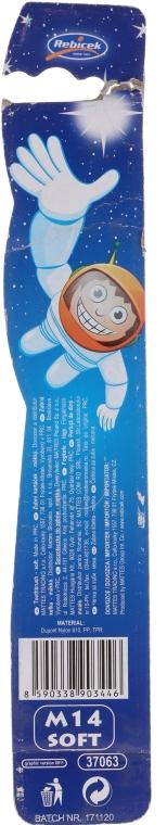 Kinderzahnbürste weich Rebi-Dental M16 grün-weiß - Mattes — Bild N2