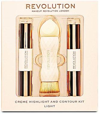 Make-up Set - Makeup Revolution Creme Highlight and Contour Kit (Highlighter 3.5g + Concealer 7g + Pinsel 1St.) — Bild N1