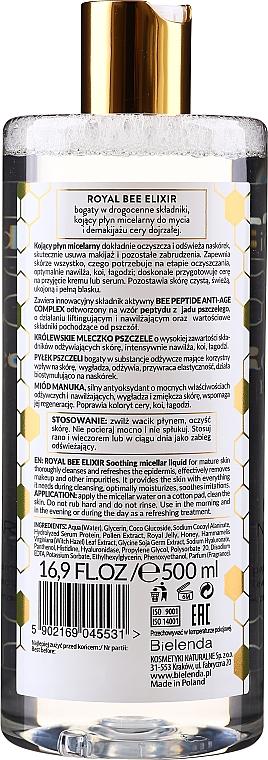 Beruhigendes Mizellenwasser mit Bienenpollen, Bienenpeptiden und Manuka-Honig - Bielenda Royal Bee Elixir — Bild N2