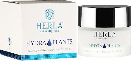 Intensiv feuchtigkeitsspendende Tagescreme SPF 15 - Herla Hydra Plants Intense Hydrating Day Cream SPF 15 — Bild N1