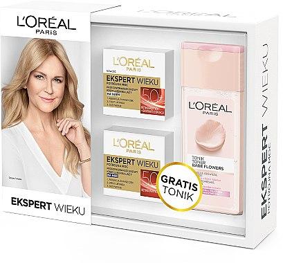 Gesichtspflegeset - L'Oreal Paris Age Specialist (Tagescreme 50ml + Nachtcreme 50ml + Tonikum 200ml) — Bild N1