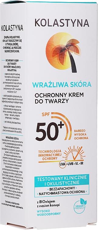 Schützende Sonnenschutzcreme für empfindliche Gesichtshaut SPF 50+ - Kolastyna SPF50 — Bild N2
