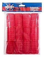 Düfte, Parfümerie und Kosmetik Klettwickler 36x63 mm rot 12 St. - Ronney Professional Velcro Roller