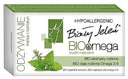 Düfte, Parfümerie und Kosmetik Hypoallergene Festseife mit Rosmarin und Melisse - Bialy Jelen BIOomega Soap with Rosemary and Lemon