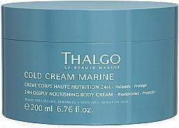 Düfte, Parfümerie und Kosmetik Intensiv nährende Körpercreme für sehr trockene und empfindliche Haut - Thalgo Cold Cream Marine Deeply Nourishing Body Cream
