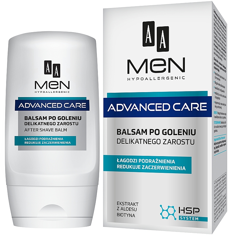 After Shave Balsam für empfindliche Haut - AA Men Advanced Care After Shave Balm For Delicate Facial Hair