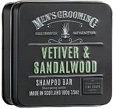 Düfte, Parfümerie und Kosmetik Stärkendes und glättendes festes Shampoo mit Hanfsamenöl und Weizenprotein - Scottish Fine Soaps Mens Grooming Vetiver & Sandalwood Shampoo Bar