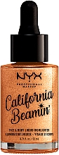 Düfte, Parfümerie und Kosmetik Flüssiger Highlighter für Gesicht und Körper - NYX Professional Makeup California Beamin' Face & Body Liquid Highlighter