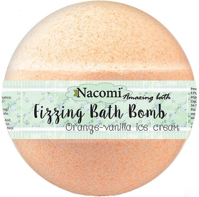 "Sprudelnde Badebombe ""Orange-Vanille mit Macadamialöl"" - Nacomi Orange Vanilla Bath Bomb"
