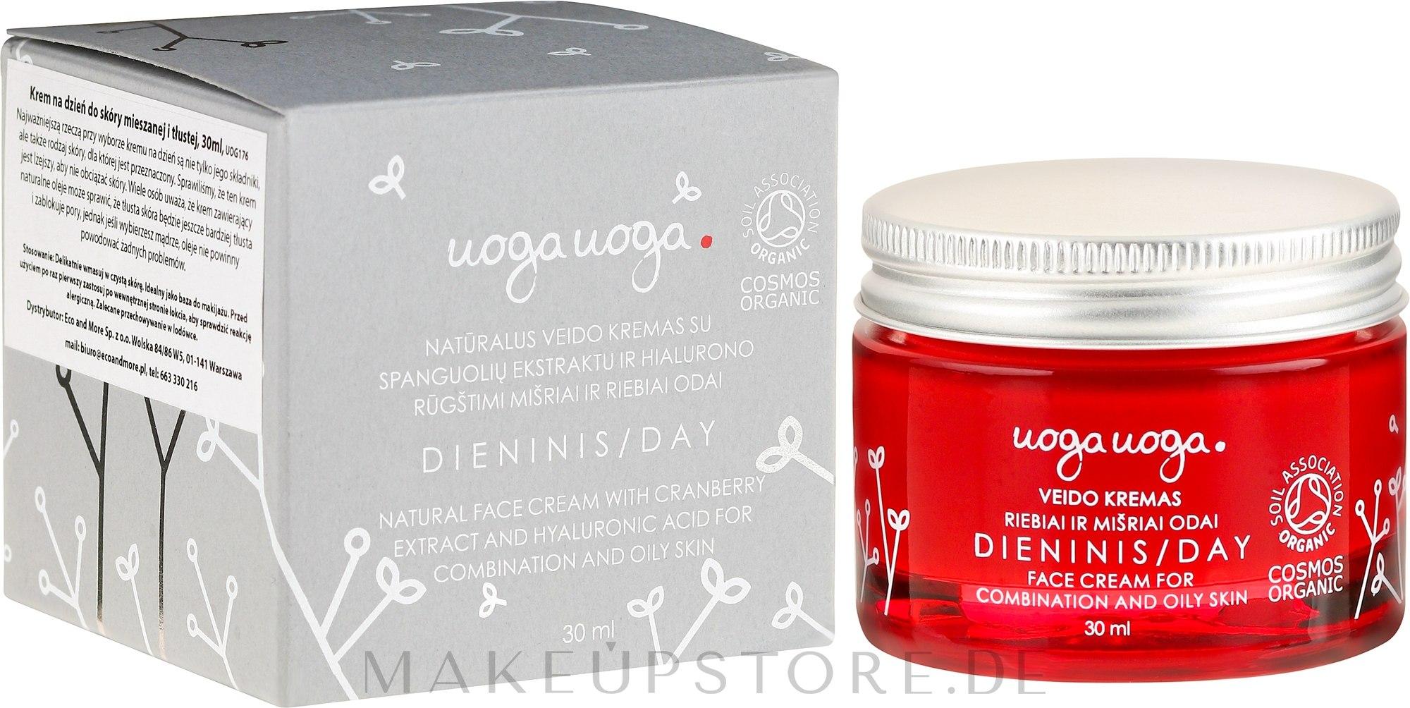 Hydratisierende Tagescreme für fettige und Mischhaut - Uoga Uoga Day Face Cream — Bild 30 ml