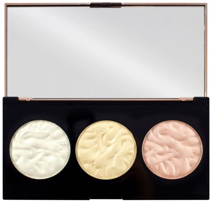 Highlighter-Palette - Makeup Revolution 3 Strobe Highlighter Palette — Bild N4