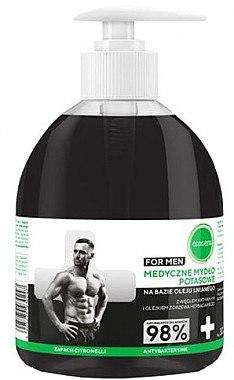 Flüssigseife für Männer mit Aktivkohle - Ecocera Medical Potassium Soap — Bild N1
