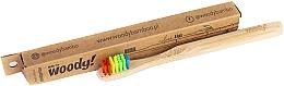 Düfte, Parfümerie und Kosmetik Bambuszahnbürste für Kinder weich Colour mehrfarbig - WoodyBamboo Bamboo Toothbrush Kids Soft/Medium