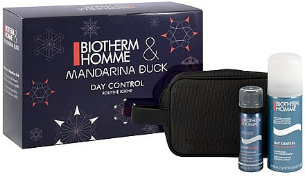 Körperpflegeset - Biotherm Homme Day Control (Schaum/50ml + Deodorant/200ml + Kosmetiktasche) — Bild N1