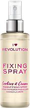 Düfte, Parfümerie und Kosmetik Make-up-Fixierer - I Heart Revolution Fixing Spray Cookies & Cream