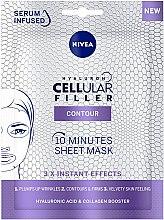 Düfte, Parfümerie und Kosmetik Straffende Tuchmaske für das Gesicht mit Hyaluronsäure und Kollagen - Nivea Hyaluron Cellular Filler 10 Minutes Sheet Mask