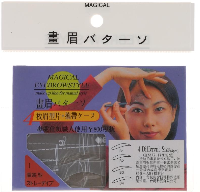 Augenbrauenschablonen Größe B1, B2, B3, B4 - Magical Eyebrow Style — Bild N1