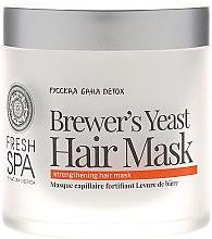 Kräftigende Hefemaske für schwaches und strapaziertes Haar - Natura Siberica Fresh Spa Russkaja Bania Detox Brewers Yeast Hair Mask — Bild N2