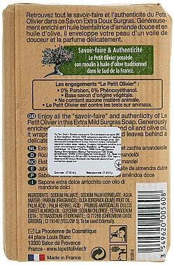 Seife mit Mandelöl - Le Petit Olivier Vegetal Oils Soap Sweet Almond Oil — Bild N2