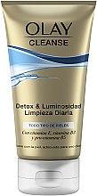 Düfte, Parfümerie und Kosmetik Detox Peelinggel für das Gesicht mit Vitamin E und B3 und Provitamin B5 - Olay Cleanse Detox & Luminosity Facial Cleansing Gel